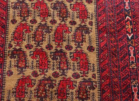 """Baluch Tribal Rug """"ejderha"""" 95×176cm"""