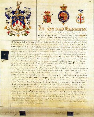 John Foster Coat of Arms