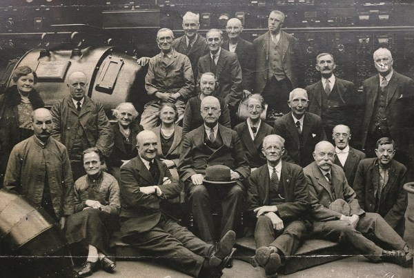 1937 John Foster Black Dyke Mill Workers with 50 years service