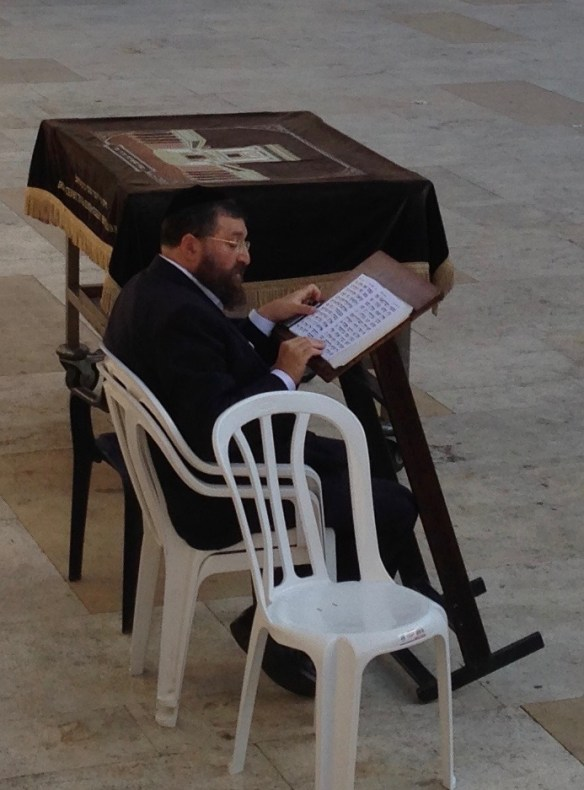 Studying the Torah at the Western Wall Copyright 2013 JMAllenSr