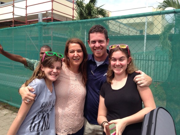 Matt & Becky and our two granddaughters in PNG