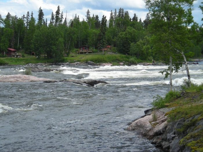 Potters Rapids and fly-in fishing camp