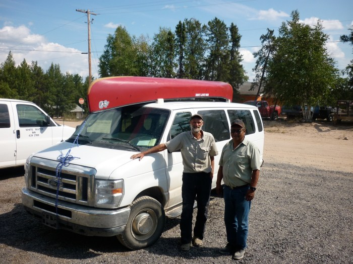 John and our taxi driver Boniface Robillard