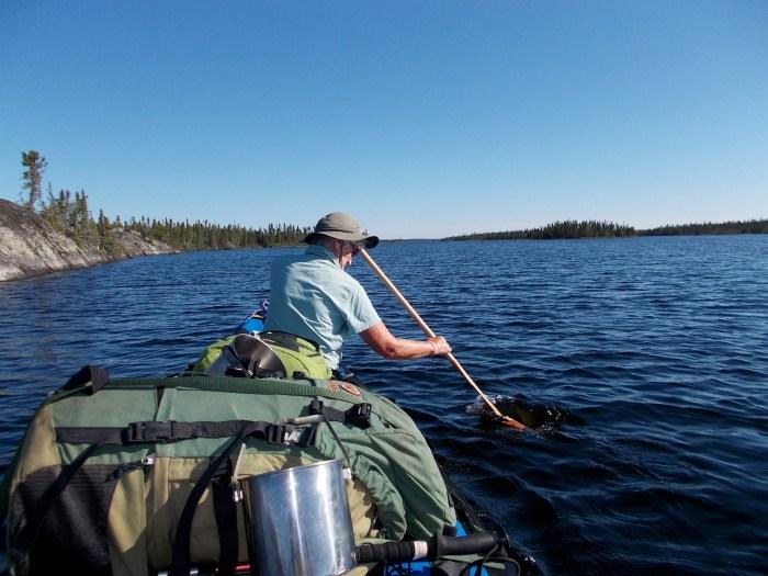 Heading north on Flett Lake
