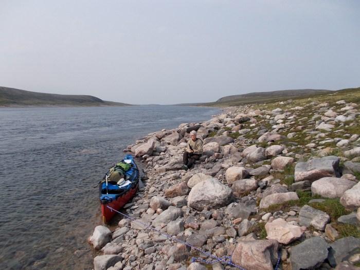 Lunch, 16km below Aleksektok Rapids