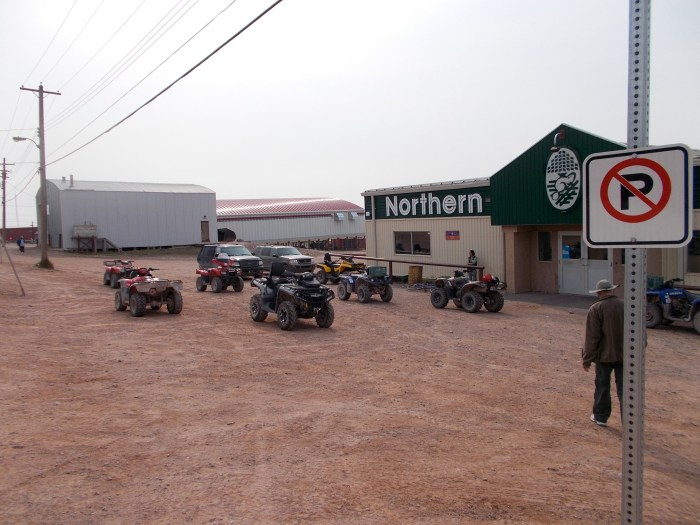 Northern Store, Baker Lake, if you're not driving a quad bike, you're not driving!