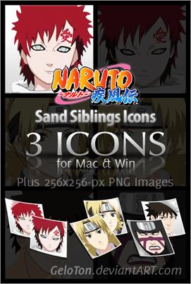 Naruto II Sand Siblings Icons