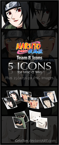 Naruto II Team 8 Icons