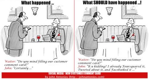 Social Media - The NEW Customer Comment Card (John Antonios)
