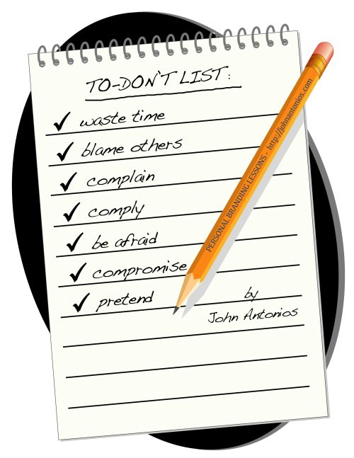 John Antonios - Personal Branding To-DON'T List