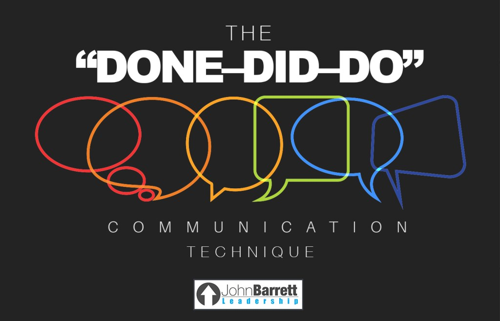 """The """"DONE–DID–DO"""" Communication Technique"""