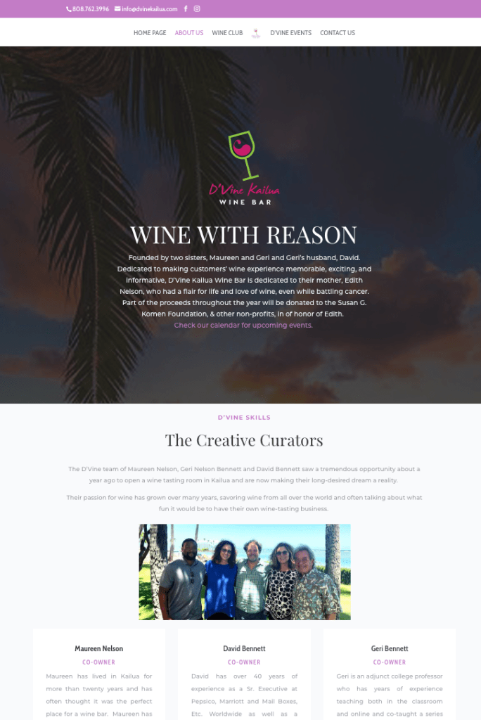 D'Vine Kailua Wine Bar and Tasting Room Page 2