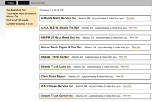New search results on 4RoadService.com