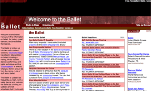 The home page of the-ballet.com