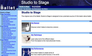 Some detail work on the-ballet.com