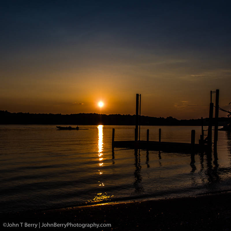 Sunset over Smith Mountain Lake.