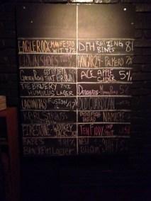 The tap menu