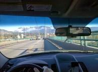 Driving over the Lion's Gate Bridge