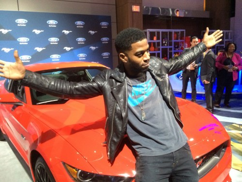 Kid Cudi poses for the cameras