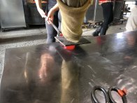 mashing the glass heart
