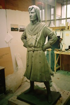 Figure of Alan Rickman as Sheriff on Nottingham in Robin Hoods Princes of Thieves