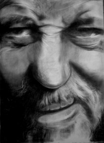 Self portrait charcoal
