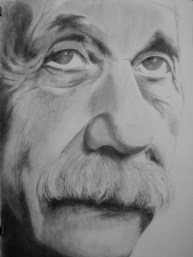 Einstein charcoal on paper