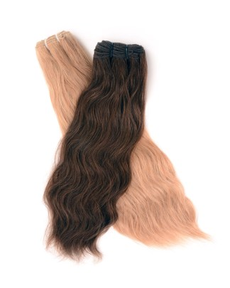 22 inch weft human hair and synthetic