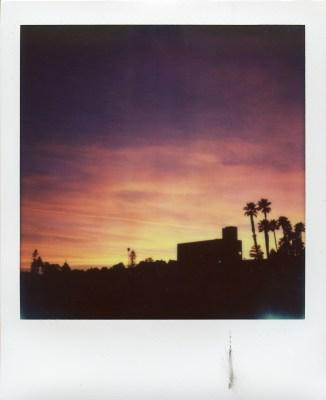 Polaroid SX70 California sunset