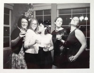 Polaroid 420 party photo