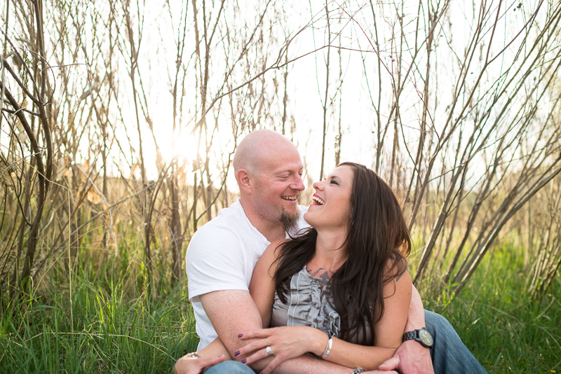 Denver Engagement Photography laughing couple