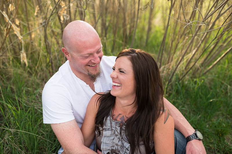 Denver Engagement Photography couple laughing