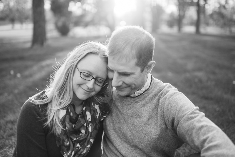 Denver Engagement Photography black and white couple smiling