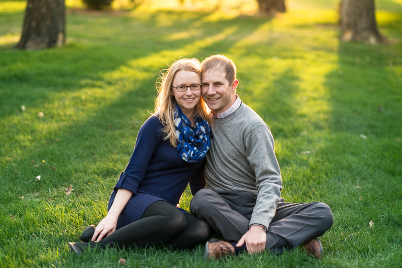 Denver Engagement Photography couple sitting in grass