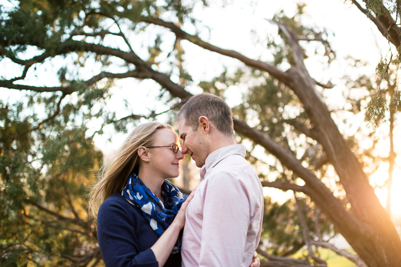 Denver Engagement Photography couple in trees