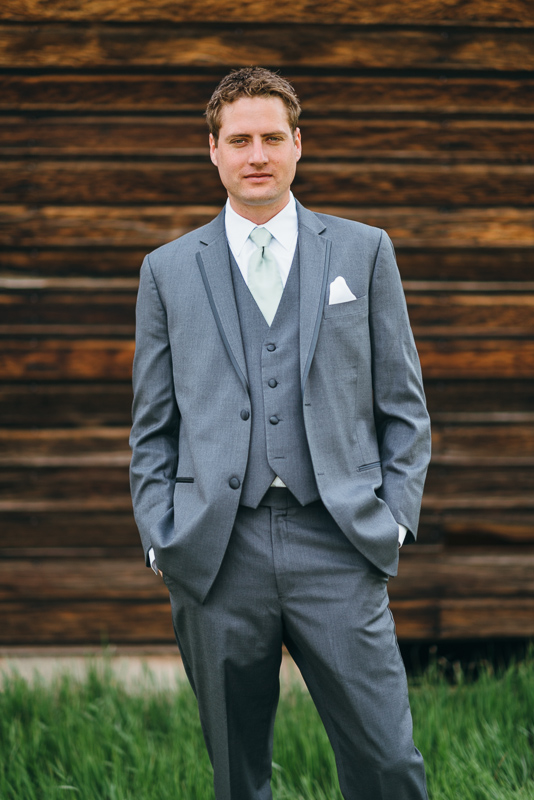 Spruce Mountain Ranch Wedding Photography groom portrait