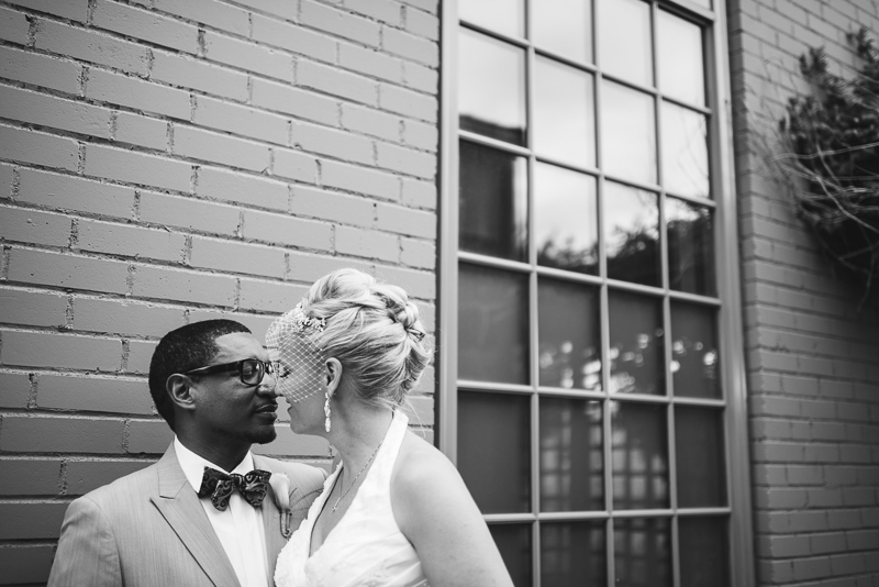 Denver Wedding Photographer romantic black and white