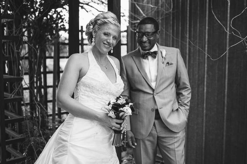 Denver Wedding Photographer happy black and white