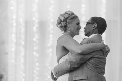 Denver Wedding Photographer first dance black and white