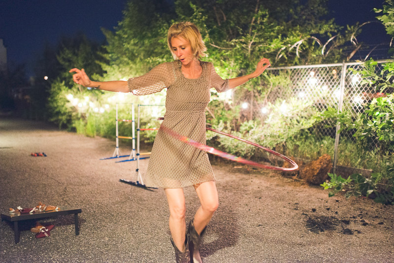 Denver Wedding Photographer dancing hula hoop
