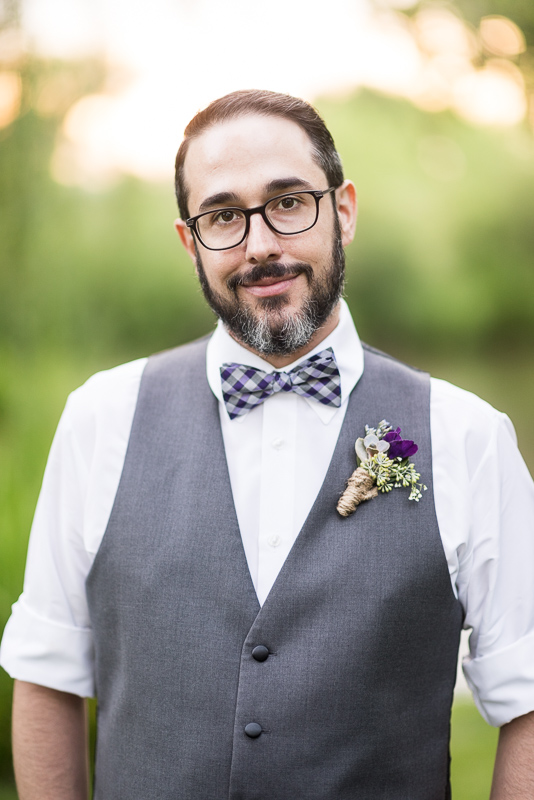 Denver Wedding Photographer Hudson Gardens groom portrait