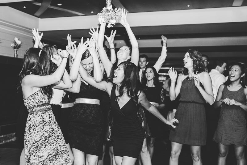 Golden Wedding Photographer bouquet toss