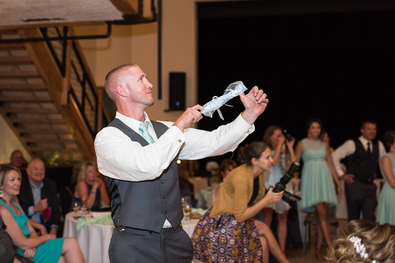 Silverthorne Wedding Photographer garter toss