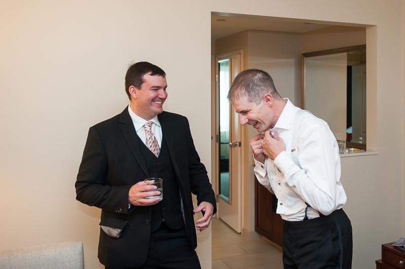 Denver Opera House Wedding Photographer groom getting ready