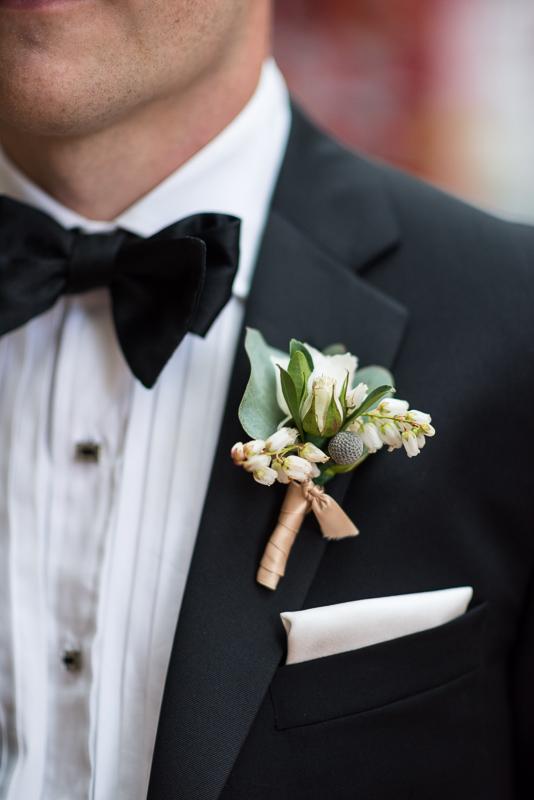 Denver Opera House Wedding Photographer bouttonere