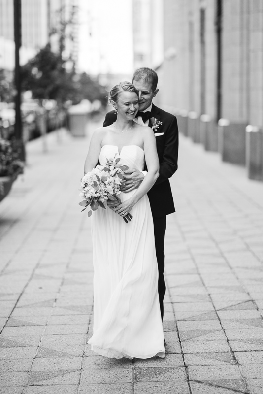 Denver Opera House Wedding Photographer bride and groom classic black and white