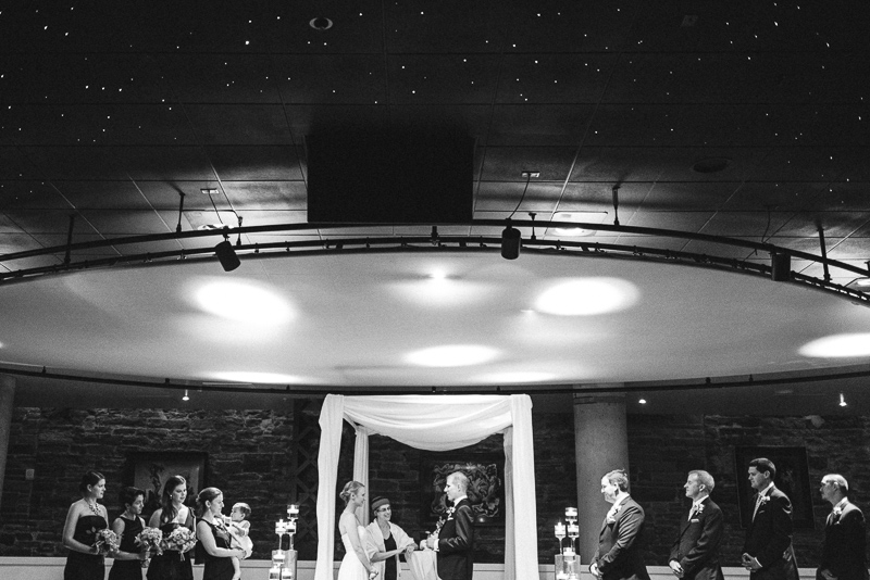 Denver Opera House Wedding Photographer black and white