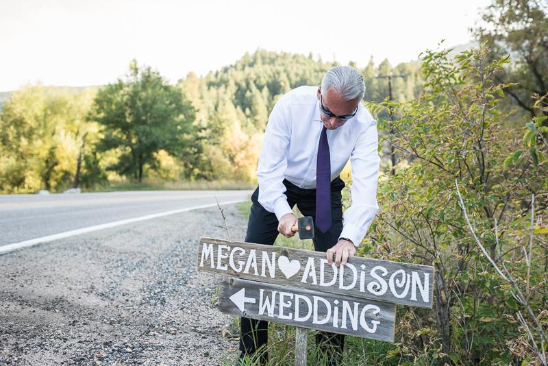 Boulder Wedding Photography sign