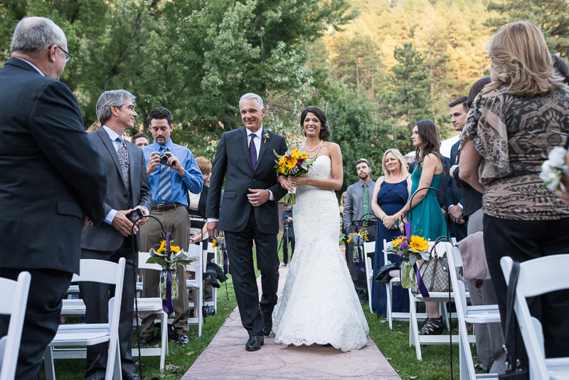 Boulder Wedding Photography walking down aisle