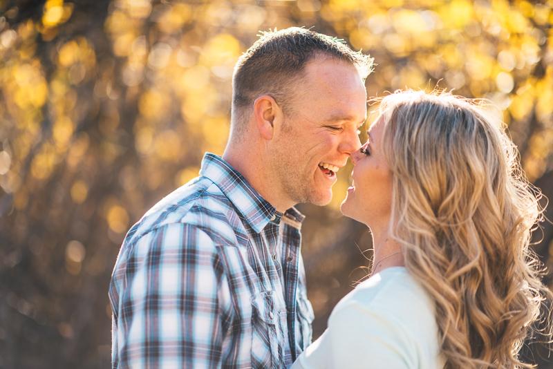 Denver Engagement Photographer fall foliage